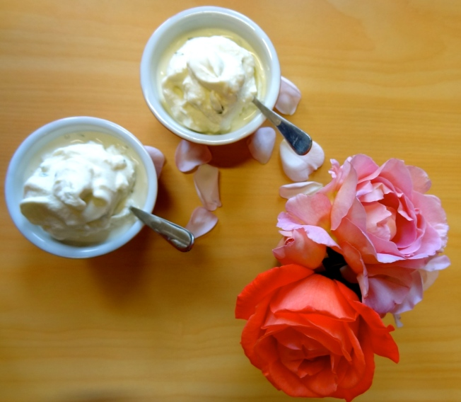 Rose and Basil Frozen Yoghurt